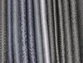 Pant fabric fabrics displayed on a clothing shop Royalty Free Stock Photography