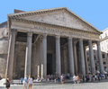 Panteon of rome in italy it s a mausoleum with tombs kings Stock Photo
