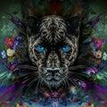 Pantera With Blue Eyes