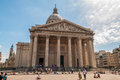 Pantheon paris with many tourists Royalty Free Stock Images