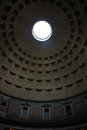 Pantheon rome sunbeam on the walls inside the in italy Stock Image
