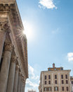 Pantheon Roof with Sun Flare and Copy Space Royalty Free Stock Photo