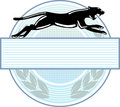 Panther emblem Royalty Free Stock Images