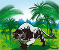 Panther in jungle Royalty Free Stock Photography