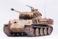 Panther tank german in world war ii at white background Stock Photos