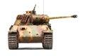 Panther tank german in world war ii at white background Stock Photo