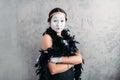 Pantomime Actress With Makeup ...