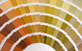 Pantone color catalog close up of a Stock Image
