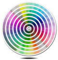 Pantone color palette blur circle guide on white background Stock Images