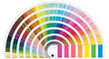 Pantone colors illustration of for print Stock Image