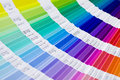 Pantone open sample colors catalogue Royalty Free Stock Photography