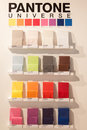 Pantone stand at homi home international show in milan italy september and point of reference for all those the sector of interior Royalty Free Stock Photos