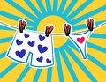 Pants in hearts Royalty Free Stock Photo