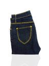 Pants jean on isolated background Royalty Free Stock Image