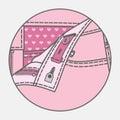 Pants` processing scheme Royalty Free Stock Photo