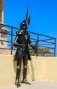 Pantserridder in rhodes old town vesting rhodos griekenland Royalty-vrije Stock Foto's
