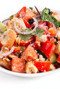 Panzanella bread salad Stock Photo
