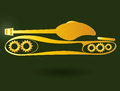 Panzer tank military badge of the military equipment Stock Image