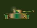 Panzer tank military badge of the military equipment Stock Photography