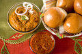 Pao bhaji indian fast food Royalty Free Stock Image