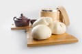 pao or mantou chinese steamed bun on a background. Royalty Free Stock Photo
