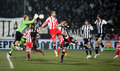 Paok and Olympiakos (0-2) Stock Photo