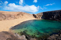 Papagayo beach in lanzarote canary islands Stock Photos