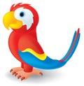 Stockfotografie netter karikatur papagei