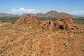 Papago Park hiking Royalty Free Stock Images