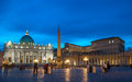 The Papal Basilica of Saint Peter in the Vatican. Night scene. Royalty Free Stock Photo