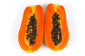 Papaya fresh on white background Royalty Free Stock Photography