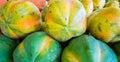 Papaya freshly picked fruit from florida Stock Images