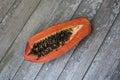 Papaya almost rotten