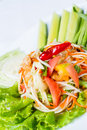 Papaya salad som tum thai young Stock Images