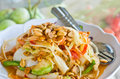Papaya salad thai famous menu Royalty Free Stock Photos