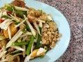 Papaya salad thailand national food Royalty Free Stock Photo