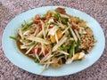 Papaya salad thailand national food Stock Images