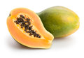 Papaya sliced on white background Royalty Free Stock Photo