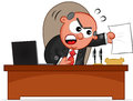 Papel de boss man angry with Imagenes de archivo