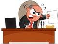 Papel de man angry with do chefe Imagens de Stock