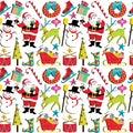 Papel pintado retro de la Navidad Fotografía de archivo libre de regalías