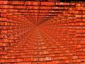 Papel pintado vibrante del infinito de la pared de ladrillo Fotografía de archivo