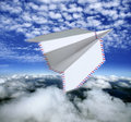 Paper airplane,airmail concept Stock Photography