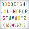 Paper alphabet set illustration of colorful Stock Photos