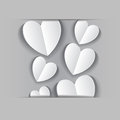 Paper application of hearts on gray Stock Photo