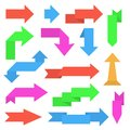 Paper arrows. Colored set of sticker labels Royalty Free Stock Photo