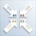 Paper arrows infographic template eps illustration Royalty Free Stock Photography