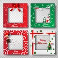 Paper art and craft of Christmas border frame photo design set,t
