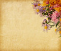 Paper  With Autumn Flowers