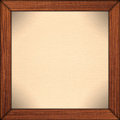Paper background in brown wooden frame Royalty Free Stock Photos